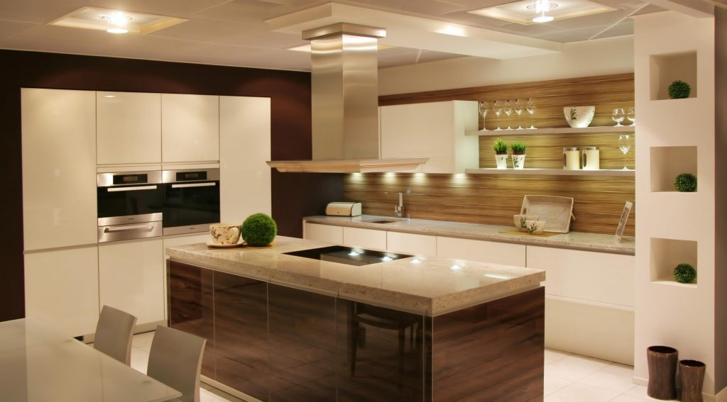 kitchen cabinets and lighting