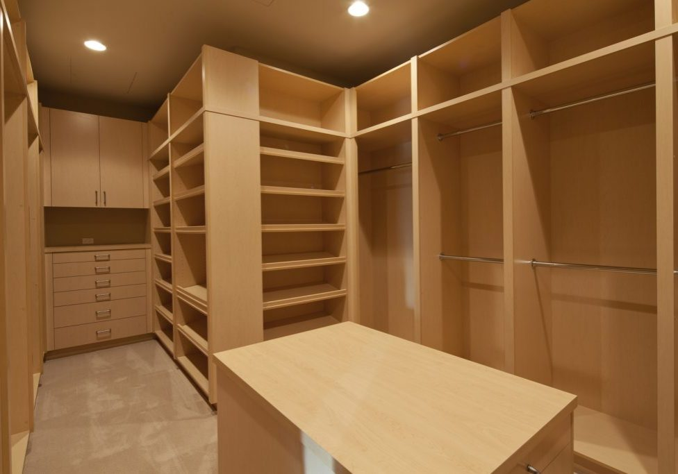 cabinets for the closets